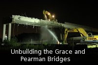 Demolition of the Grace  and Pearman Bridges